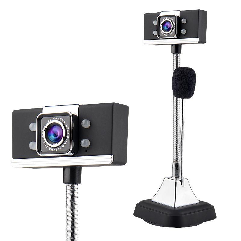 USB 2.0 Verdrahtete Webcams1080P PC Laptop Video Kamera Einstellbare Winkel HD LED Nachtsicht Mit Mikrofon schwarz
