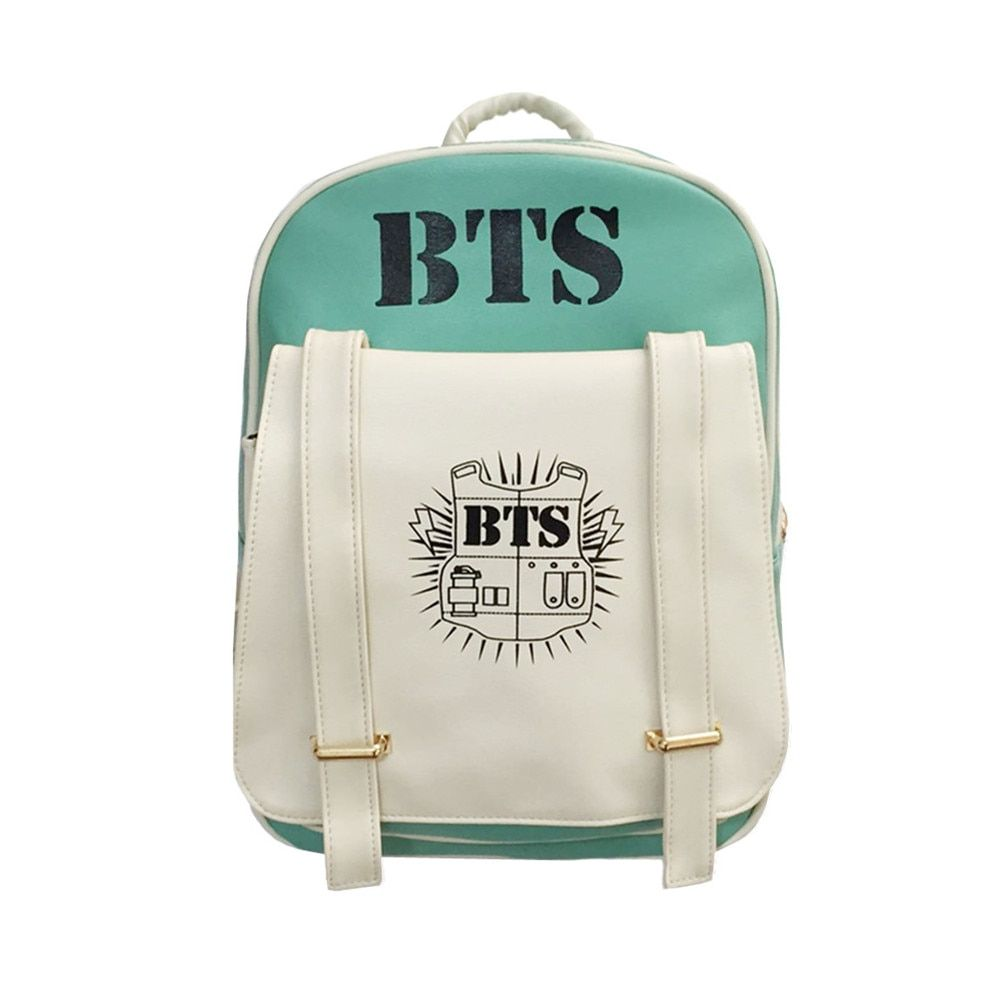 2018 New Korean KPOP Bangtan BTS PU Backpack Mochila Bag Preppy Style Student Girls Schoolbag Women Backpacks for Teenage