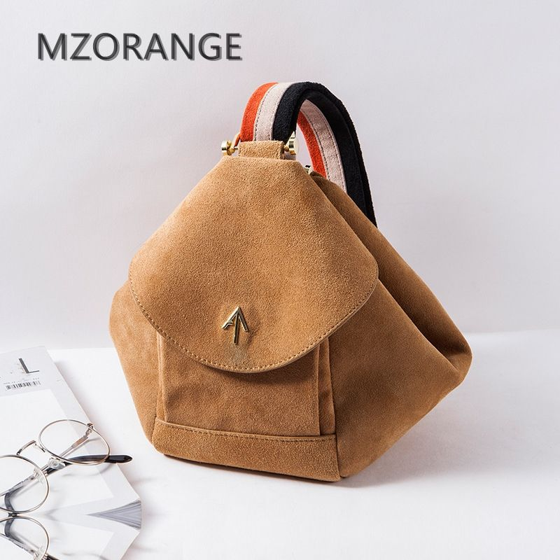 MZORANGEO 2018 Vintage Suede design genuine leather Women handbag Fashion small brand Arrow Tote Lady Shoulder Bag Turkey