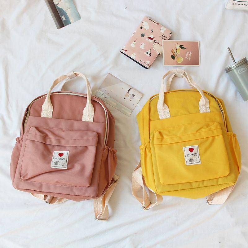 Corée du sud belle ins sac souple femme étudiant japonais Harajuku sac à dos petit frais ulzzang violet sac à dos