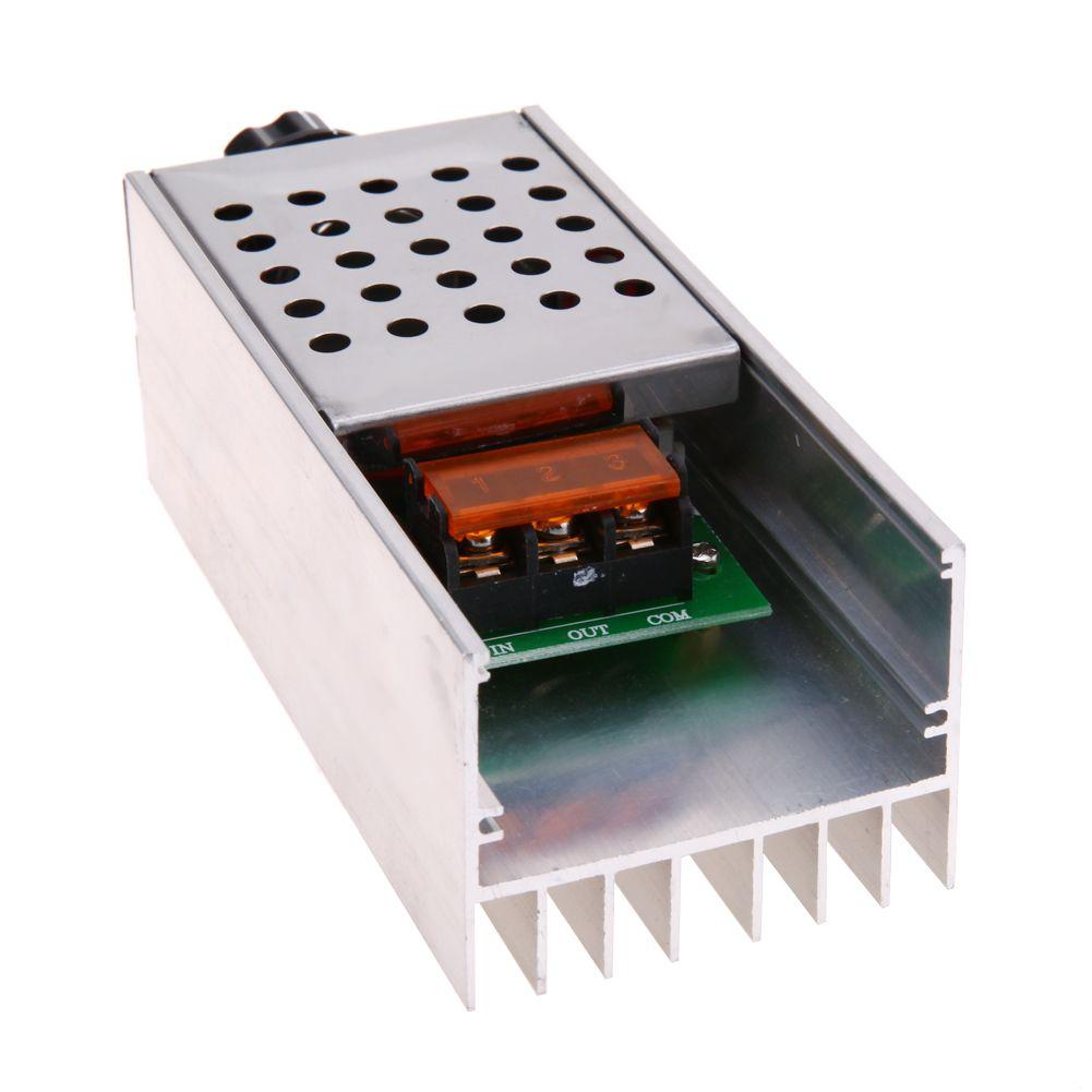AC220V 6KW SCR Electrical Voltage Regulator Adjustable Motor Speed Light Controller Dimmer Thermostat Electrical Accessories