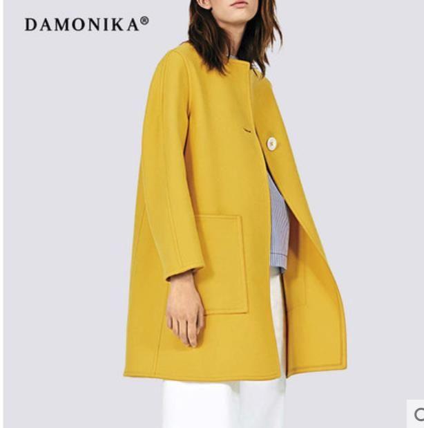 Frauen mode von Europäischen und Amerikanischen frauen mode von 2018 neue herbst woolen mantel frauen kurze kurze doppel gesicht kaschmir c
