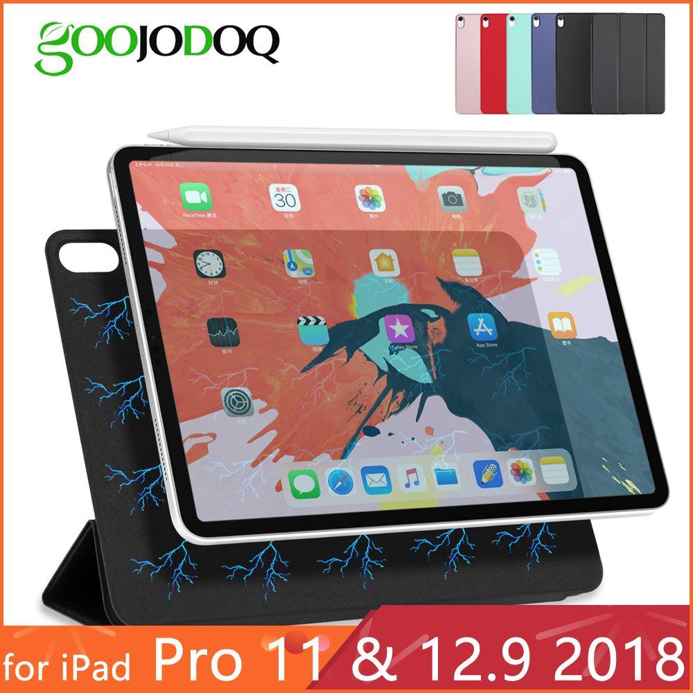 Pour iPad Pro 11 étui pour iPad Pro 12.9 2018 Funda magnétique Ultra mince couverture intelligente pour iPad 11 pouces étui Support attacher Charge