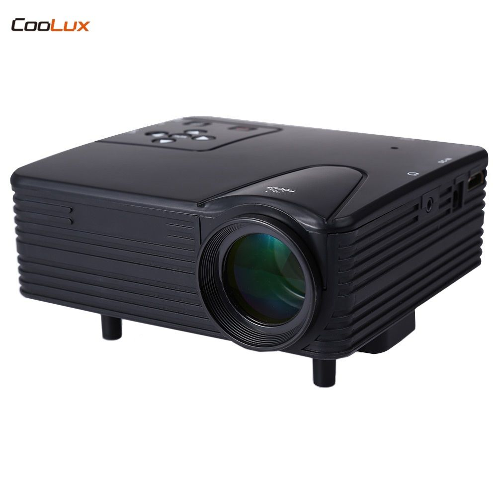 H80 Tragbare Led-projektor 640x480 Pixel 80 Lumen Unterstützt HD 1080 P Video Spielen Heimkino-projektor