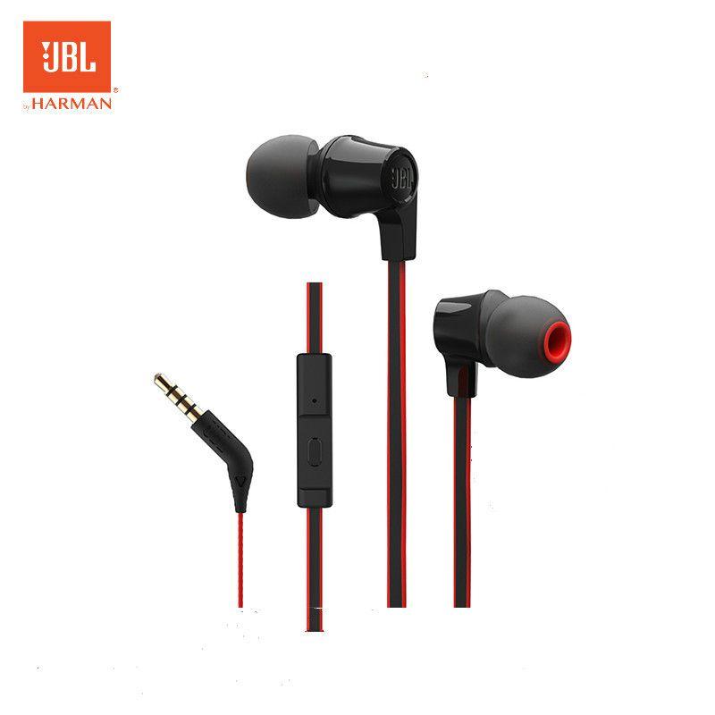 JBL T120A In ohr Bass Ohrhörer handy Draht Bewegung mit Mic Original Kopfhörer 3,5mm Metallstecker Cancelling Noise Headset