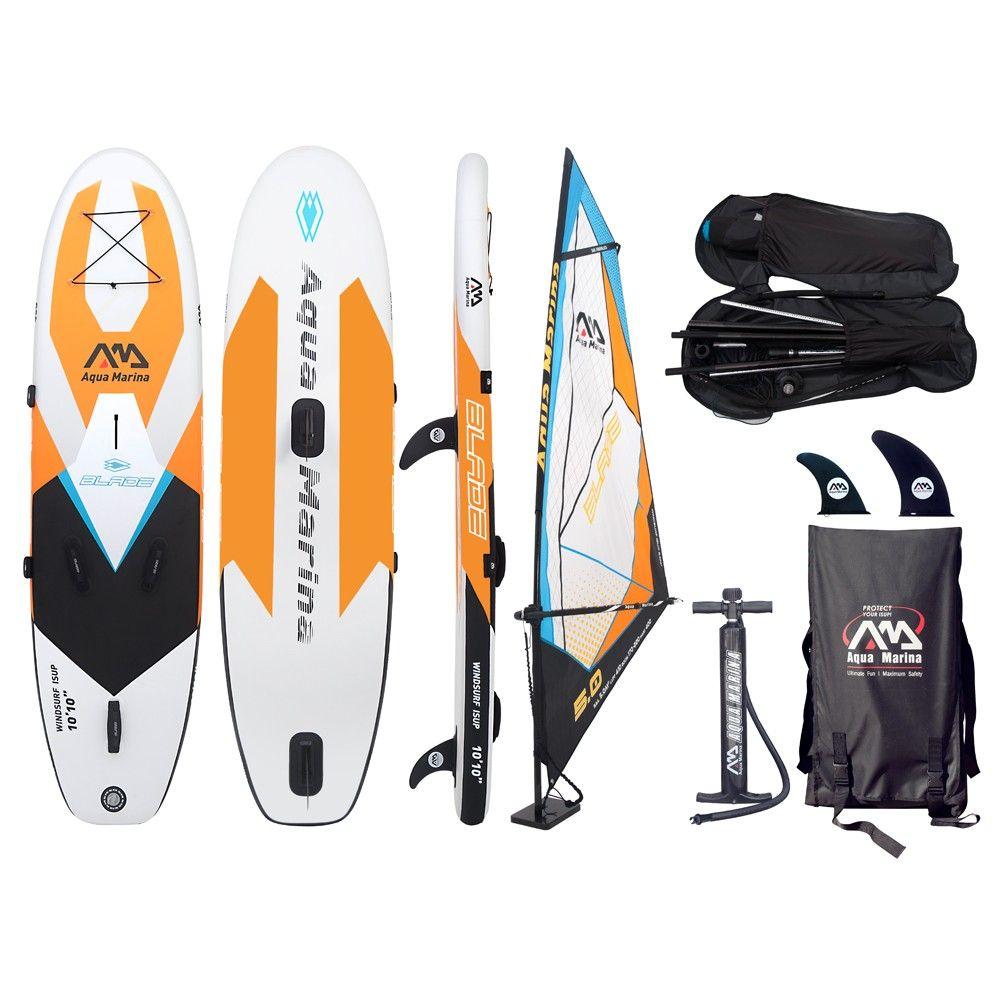 Aqua marina klinge 10'10 aufblasbare windsurf/SUP alle um kreuzfahrt aufblasbare boards