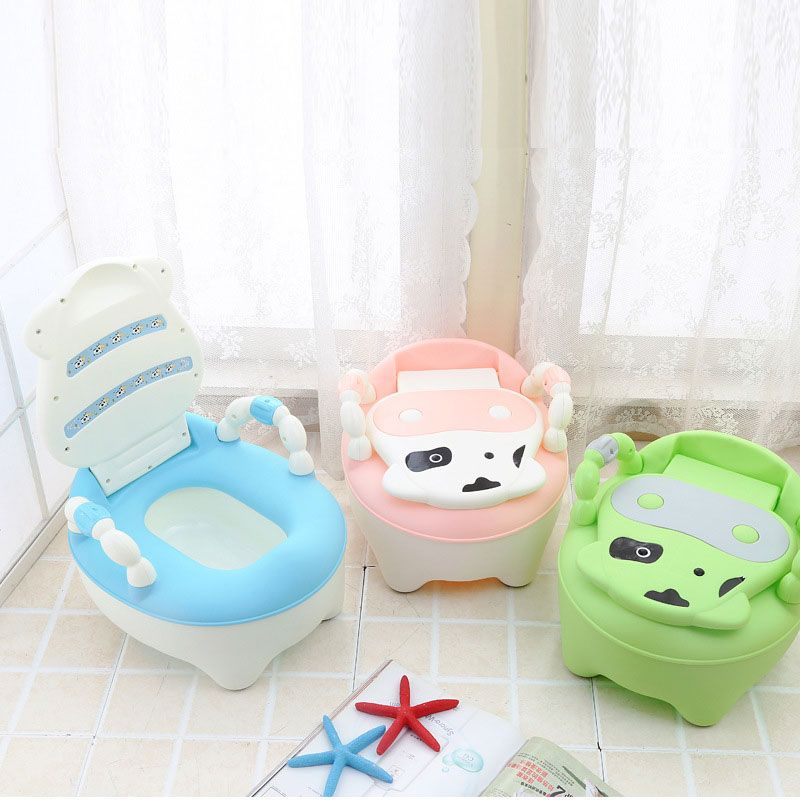 Toilet Children Baby Potty <font><b>Training</b></font> Cows Boy Girl Portable Potty Toilet infant Potty Infants Toilet Child Pot with FREE brush