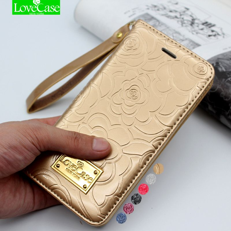 Latest 7 8 plus camellia wallet flip Patent Leather Case for iPhone X 8 7 Plus 6S Plus Genuine Leather phone Bag Pouch Phone Bag
