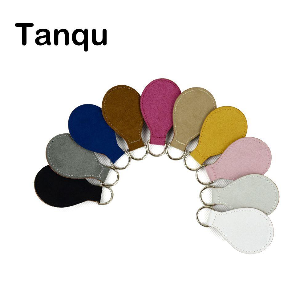 TANQU 2017 Nuevo 2 Par 4 Unid cashmere Cuero Caída Final para Obag Mango Drop Adjunto para O Bolsa de Franela Obasket DIY Bolso de Las Mujeres