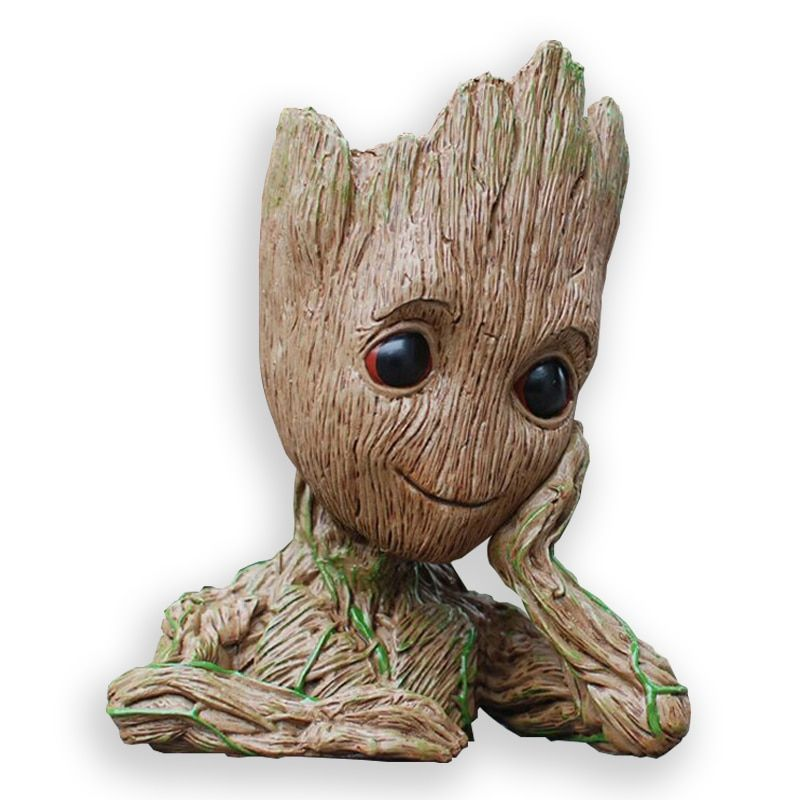 Baby Flowerpot Guardians of The Galaxy Action Figures Model Toys Tree Man Baby Cute Pen Pot Flower Pot Gifts Home Decoration