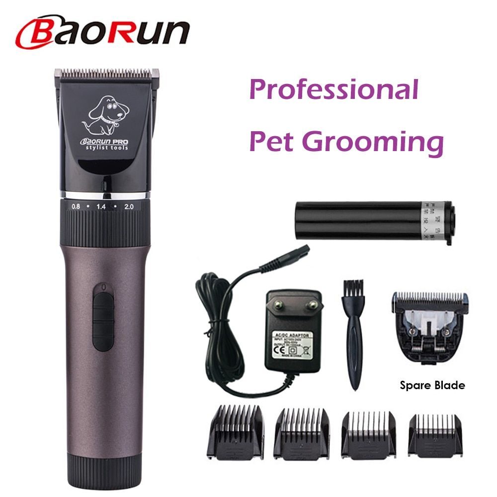 Professional Pet Hair Trimmer Electric Rechargeable Cat Dog Clipper Grooming Cutters Powerful Shaver Machine For Animal 110-240V
