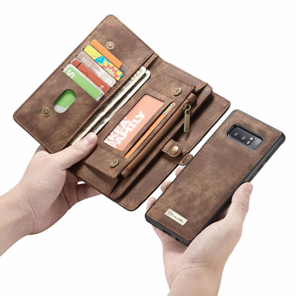 CaseMe For Coque Samsung Note 8 Zipper Wallet Folio Magnetic Cover Retro Genuine Leather Case for Samsung Galaxy S9 S8 note 9