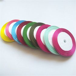 25 Yards/Roll 6mm Width Colorful Silk Satin Ribbon Wedding Party Decoration Gift Craft Sewing Fabric Ribbon Cloth Tape DIY