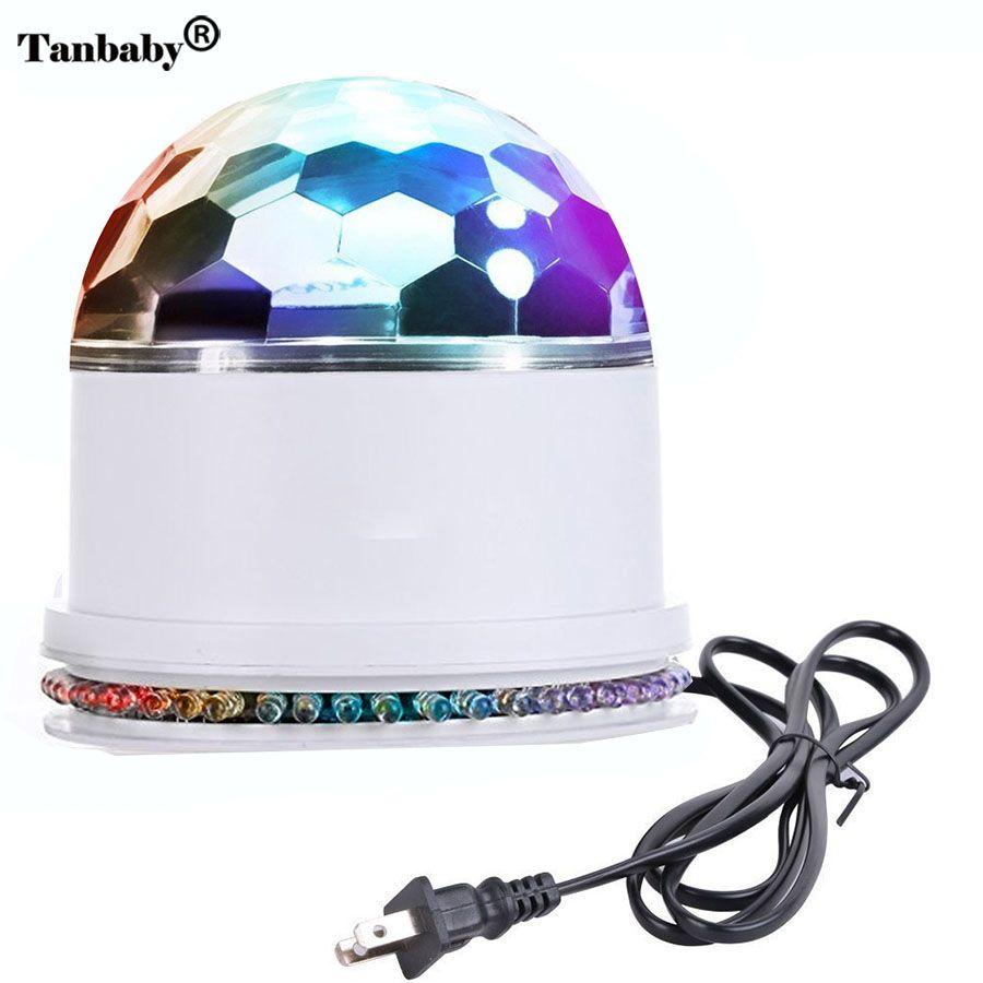 Tanbaby 48 LED RGB Bühne Licht Sound Actived Auto RGB Mini rotierenden Zauber Disco-Kugel Strobe PAR Partei Beleuchtet Für DJ Tanzen zeigen