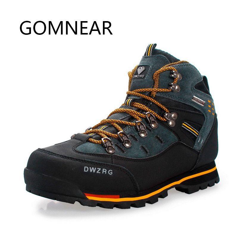 GOMNEAR homme tendance chaussures de randonnée etanche pêche extérieur antidérapant Trekking chasse Sport chaussures escalade randonnée bottes pour homme