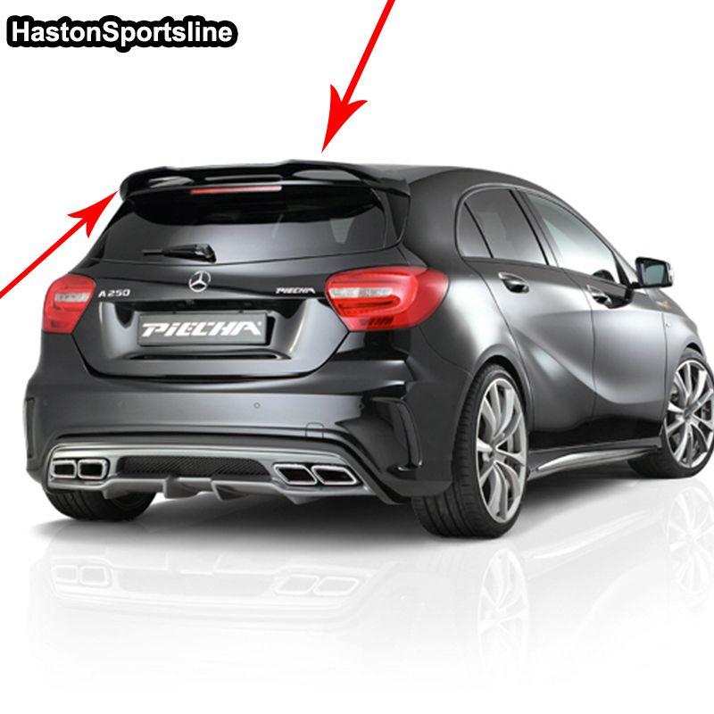 W176 A45 P Styling FRP Primer Auto Hinten Dach Flügel spoiler Für Mercedes-benz A-klasse W176 A180 A200 A260 A45 AMG 2013-2017