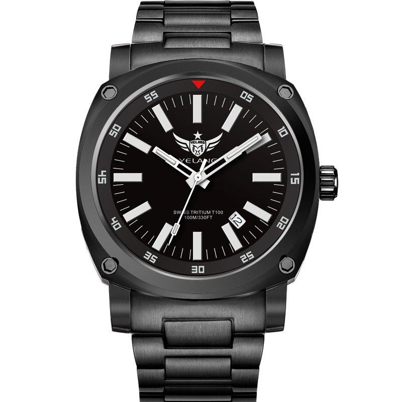 Yelang v3.3 Plus Super brillante gas tritio luminoso para hombre Sapphire espejo hombres negocio Titanium aleación reloj mecánico automático