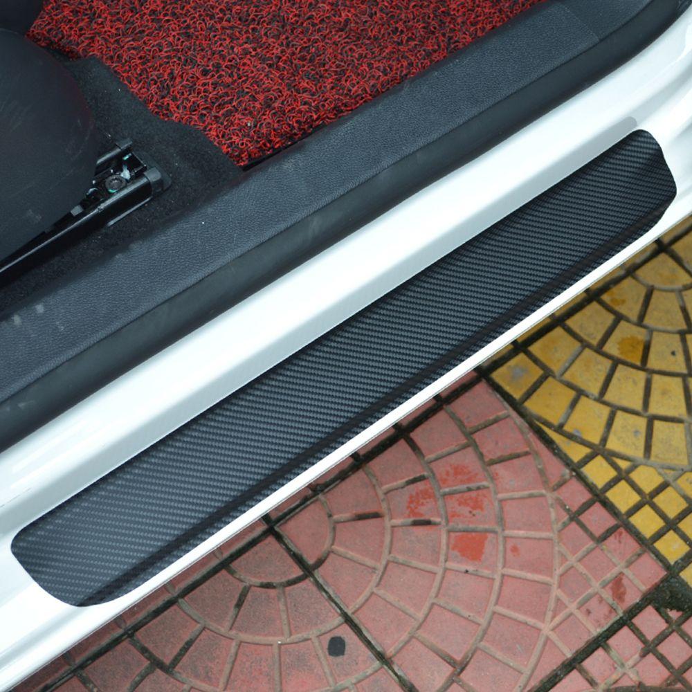 Pour Ford Focus 2 MK2 2012 à 2016 seuil de seuil de porte seuil de pédale de bienvenue autocollants en Fiber de carbone protection complète pédales de bienvenue 4 pièces