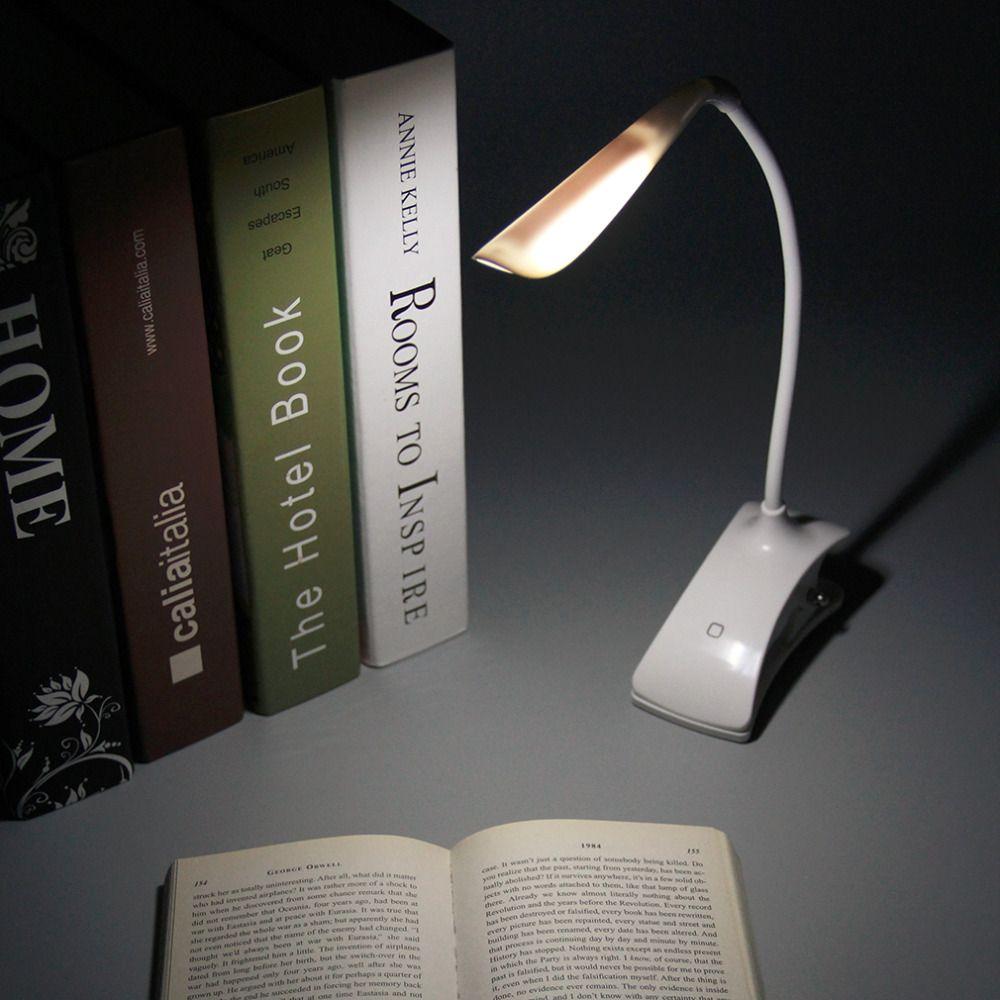 Mode USB/Batterie Power Clip auf FÜHRTE Tabellenschreibtischlampe Licht 28 LED Nacht Buch Leselampe für Bett