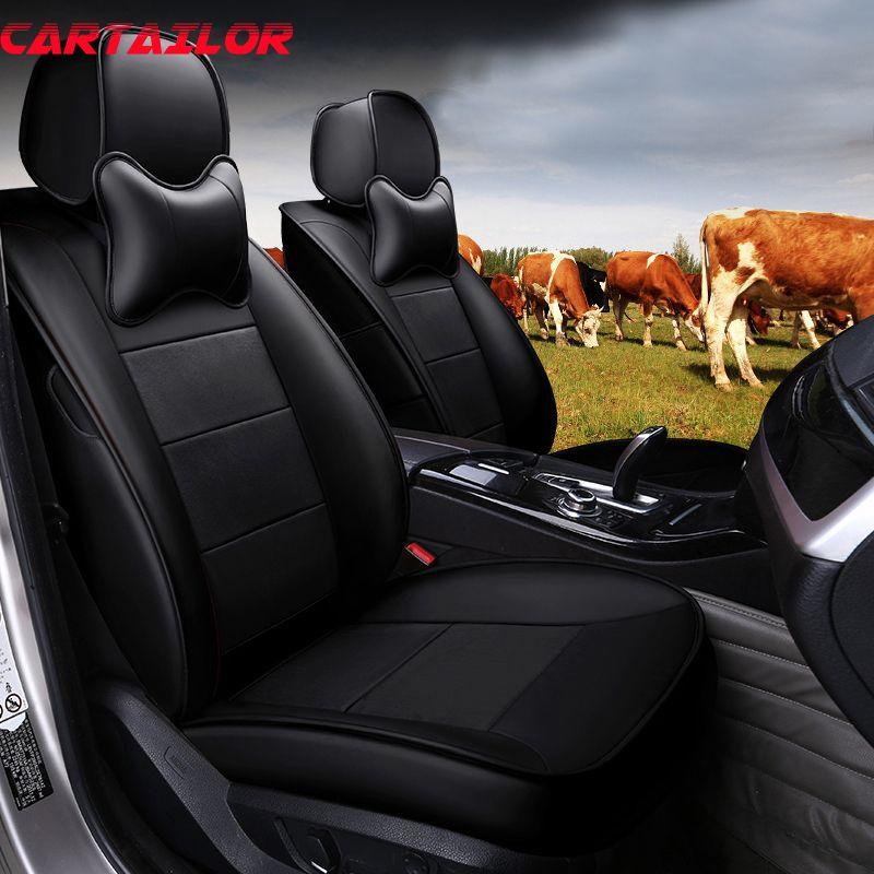 CARTAILOR Rindsleder Leder Auto Sitz Abdeckung Schutz für Toyota Sienna Sitzbezüge & Zubehör Custom Fit Autos Sitze Styling Set