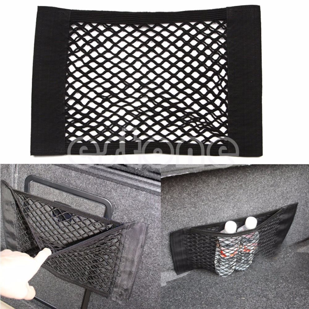 Car Back Rear Trunk Seat Elastic String Net Mesh Car Trunk Storage Bag Cargo Organizer Storage Bag Pocket Cage Auto Accessoires