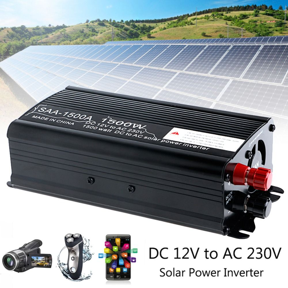 Solar Power Inverter 3000W Peak 12V DC To 230V AC Modified Sine Wave Converter 1500W
