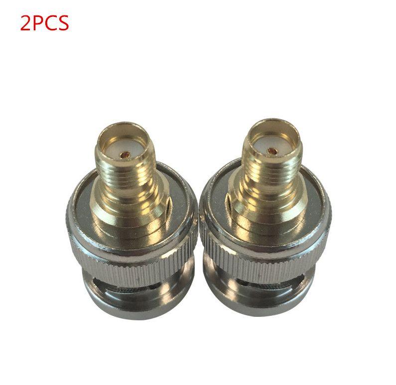OPPXUN 2PCS  Free shipping BNC to SMA RF Adapter converter BNC Male to SMA Female Plug Coax Adapter