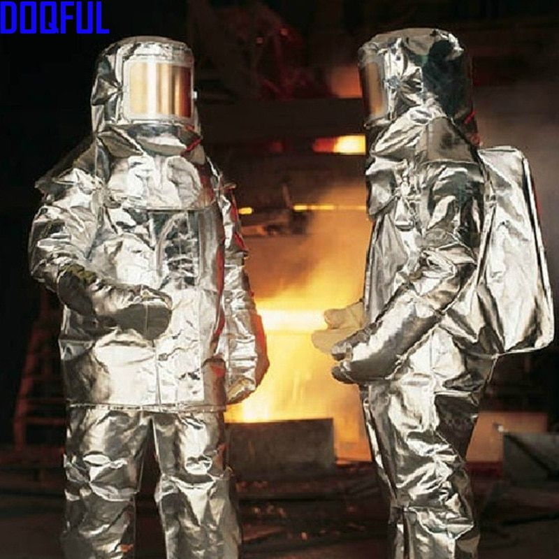 New 1000 Series Aluminized Aircraft Rescue Fire Fighting Approach Suit Bunker Firefighter Uniform proximity Thermal Radiation
