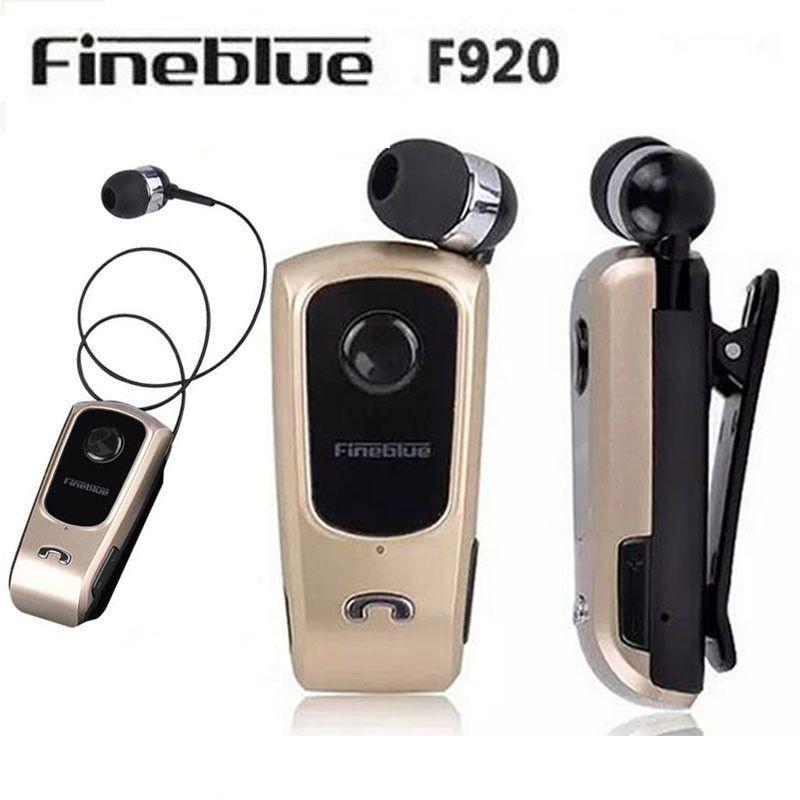 FineBlue F920 Sans Fil auriculares pilote Bluetooth Casque Appels Rappeler Vibrations Usure Clip Sport Courir Écouteurs pour Téléphones
