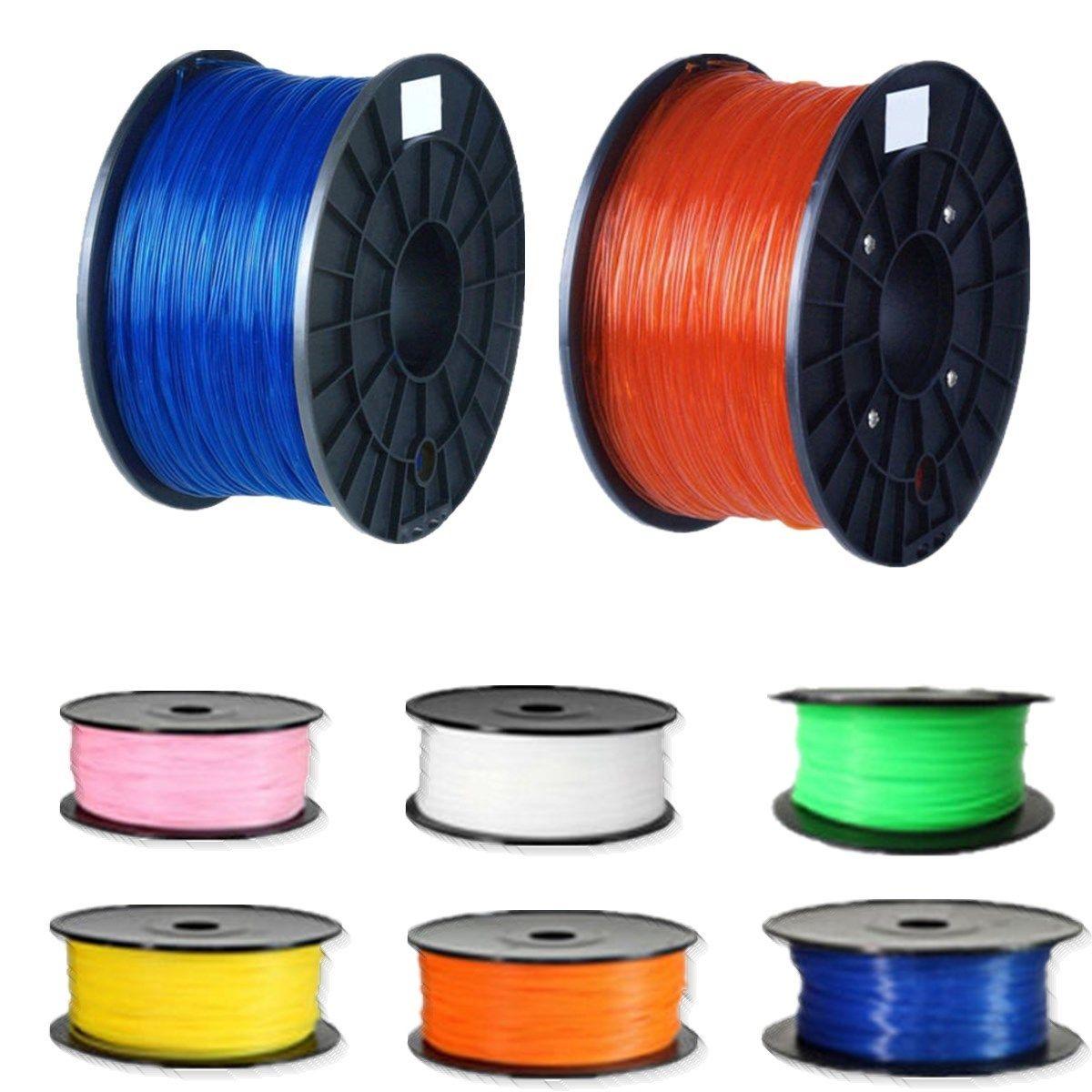 PLA 3d Printer Filament 1.75mm 10M  6 colors Optional for MakerBot RepRap 3D printing Accessories PLA material
