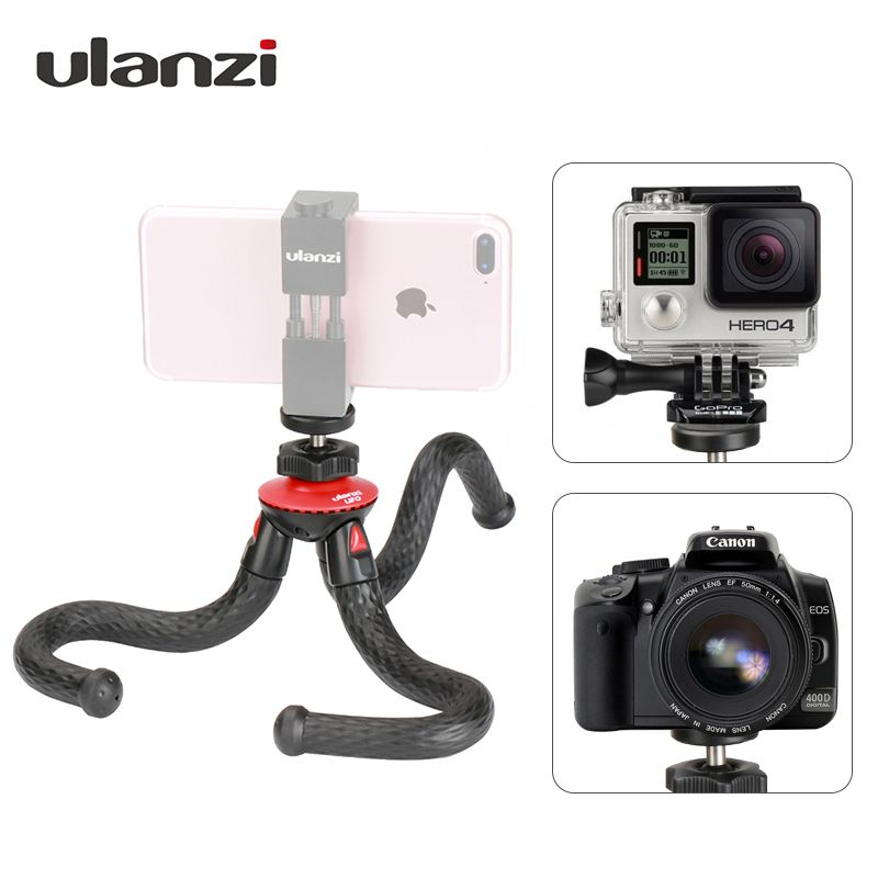 Ulanzi Mini Flexible Octopus Mobile Tripod With Phone Holder Adapter for iPhone X Smartphone DSLR Camera Nikon Canon Gopro Hero