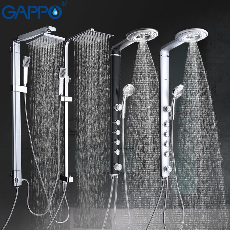 GAPPO bath shower faucets set bathroom shower tap wall mounted faucet mixer wall shower set Waterfall Massage big shower mixer