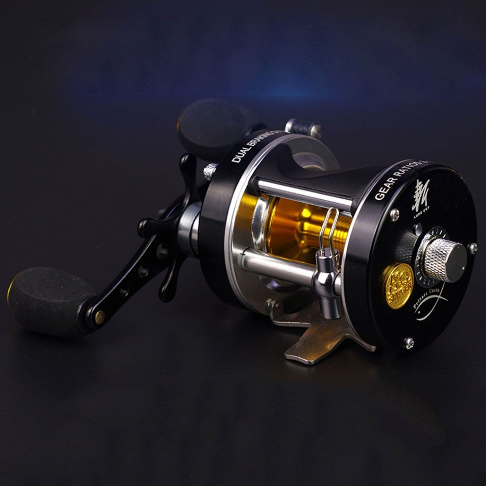 Double centrifugal brake 5.2:1Corrosion-resistant bearings fishing reel spinning metal Right Left Hand Bait Casting Fishing Reel