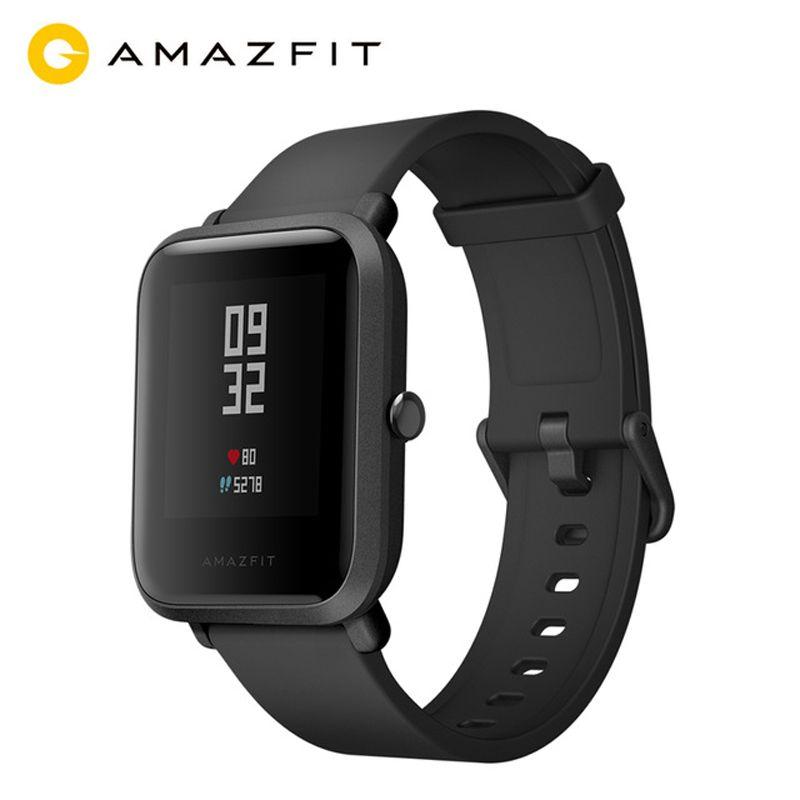 English Version MI AMAZFIT Bip Youth Smart Watch GPS GLONASS Heart Rate Monitor Android 4.4 IOS 8 Bluetooth 4.0 IP68 Waterproof