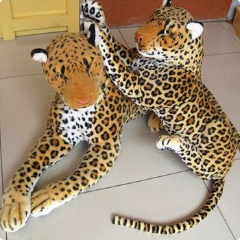 big Artificial animal leopard lion hot-selling plush toy doll simulation leopard doll about 88cm