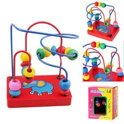 Mainan Kayu Gajah Manik-manik Anak-anak Labirin Anak-anak Manik Rollercoaster Maze Puzzle Rollercoaster Mainan Pendidikan Mainan untuk Anak