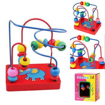 Wooden Toy  Elephant Bead Maze Kids Children Bead Rollercoaster Maze Puzzle Rollercoaster Educational Toy  Toys For Children