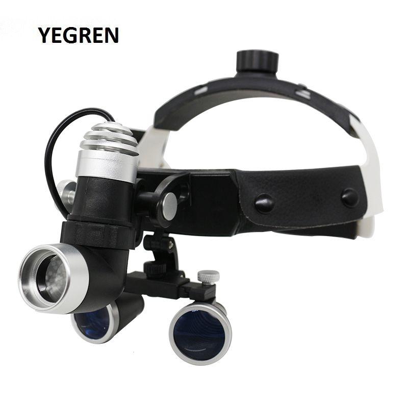 2.5X/3.5X Beleuchtet Helm Dental Lupen mit Einstellbarer LED-Dental Scheinwerfer Fernglas Lupe für Medizinische Chirurgie Betrieb