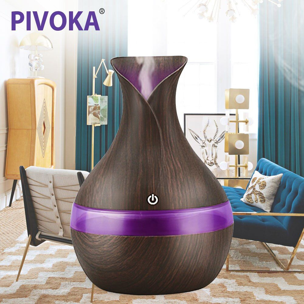 PIVOKA 300ML Air Aroma Humidifier Essential Oils for Aromatherapy diffusers USB charging Ultrasonic humidificador For Home 066