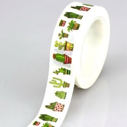 10M DIY Cute Cactus plants Japanese Washi Tape Decorative Adhesive Tape Masking Tape For Home Decoration Scrapbooking Diary