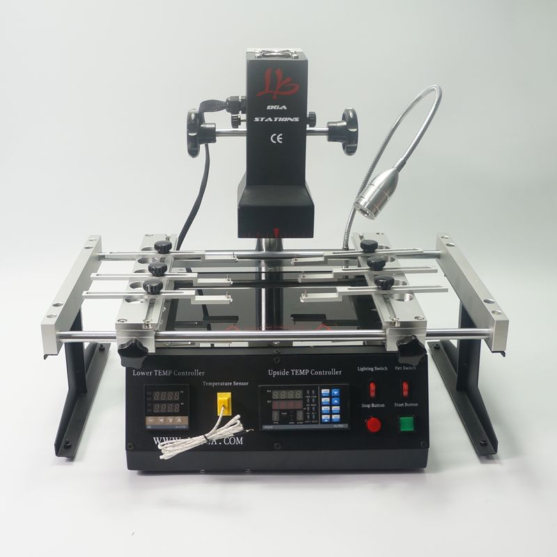 2019 NEUE Infrarot IR bga rework station LY IR6500 V2 bga solder station bga maschine mit solder bälle Schweißen Flux bga Schablonen