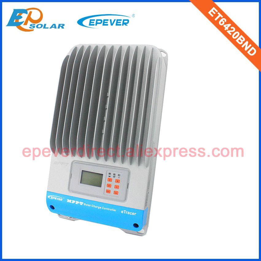 60A 12 v/24 v/36 v/48 v hohe effizienz solarpanel laderegler MPPT ET6420BND Max Pv Eingang 200 v