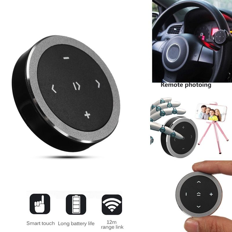Bluetooth Media Audio Music Play Remote Control Button Car Steering Wheel Mount