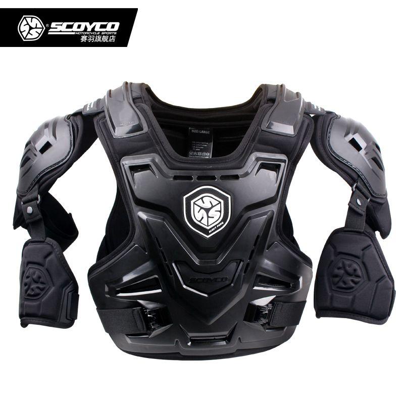 De Scoyco AM07Motorcycles armadura Motocross Pecho Espalda Protector Armadura Chaleco Racing Protective Body-Guardias chaquetas Codo