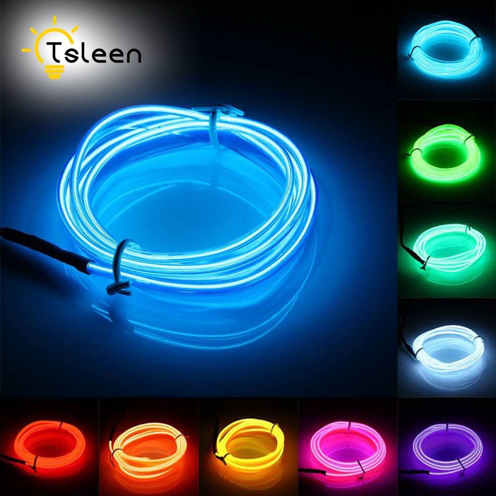 TSLEEN 2M 3M 5M néon lumineux Led néon bande de lumières Led Rgb Led étanche ligne néon cordon partie décor lumière Led bande 49% off