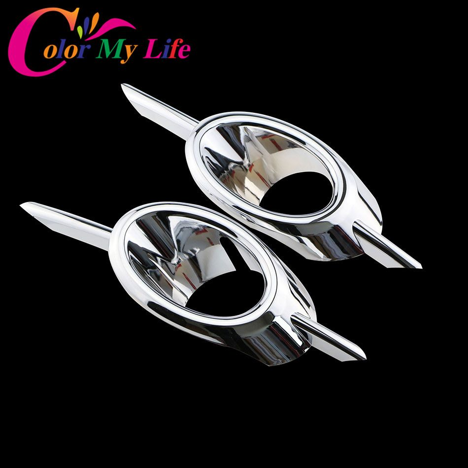 2Pcs/Set ABS Chrome Car Front Fog Lamps Cover Fog Lights Covers Fog Light Lamp Sticker For Chevrolet Cruze 2009 - 2016 Car Parts