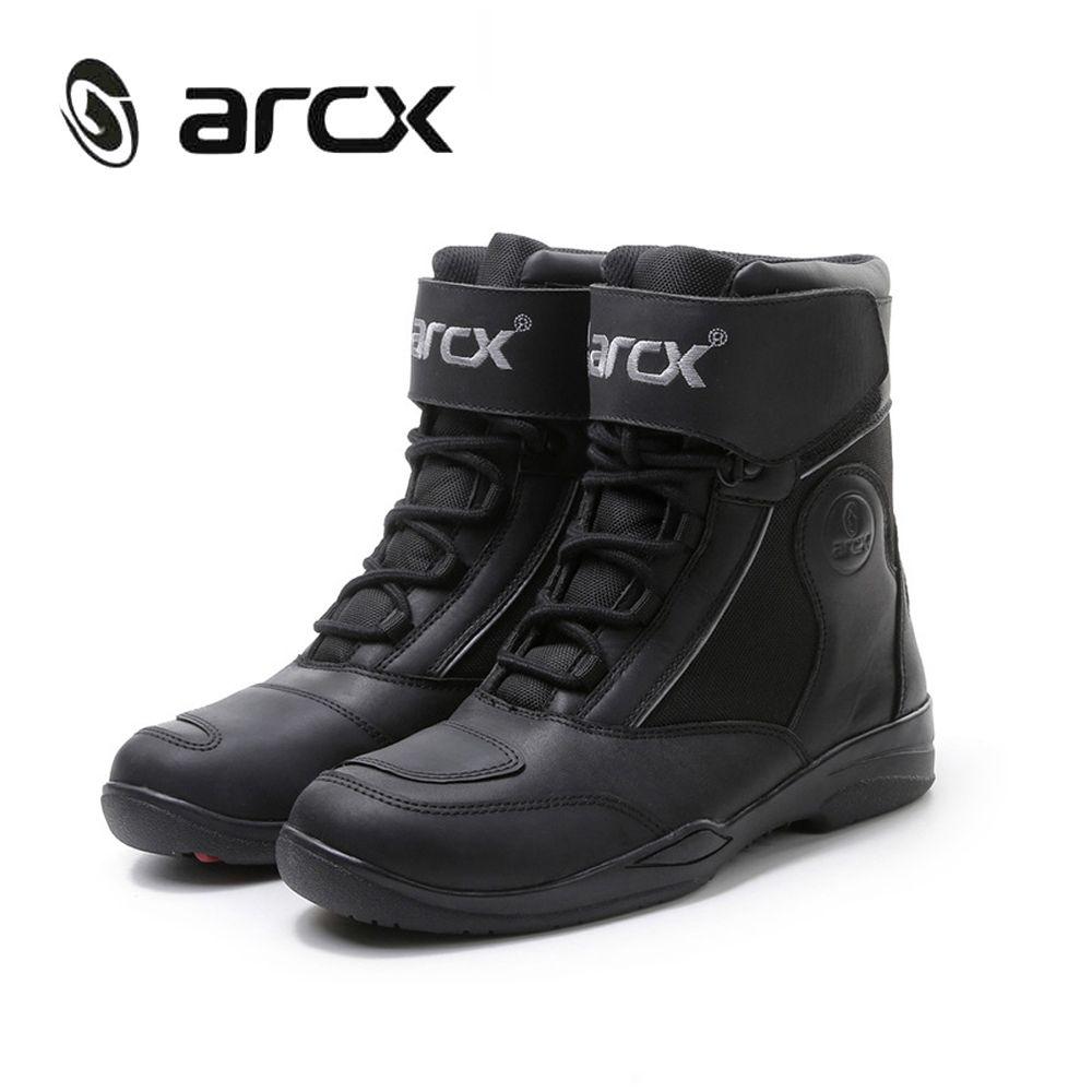 ARCX Moto Bottes Hommes Moto Cross En Cuir Bottes Biker chaussures Pour Moto D'équitation Chevalier Courtes Bottes Motocross chaussures L60599