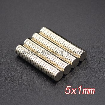 20 pcs Néodyme Disque Aimants 5x1mm N35 Super Strong Puissant Rare Earth 5mm x 1mm petit Rond Aimant