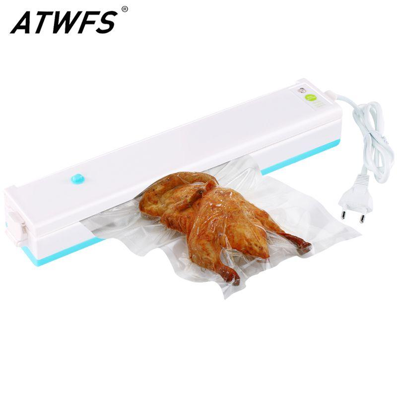 ATWFS Vacuum Packing Machine Best Home Vacuum Sealer Packer Food Saver Plastic Vacuum Packaging Machine Including 15pcs Bags