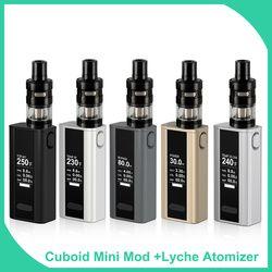 Big sale! Original Joyetech Cuboid Mini Starter Kit with Lyche Full Kit 80W 2400mAh Builtin Battery Vape Electronic Cigarette